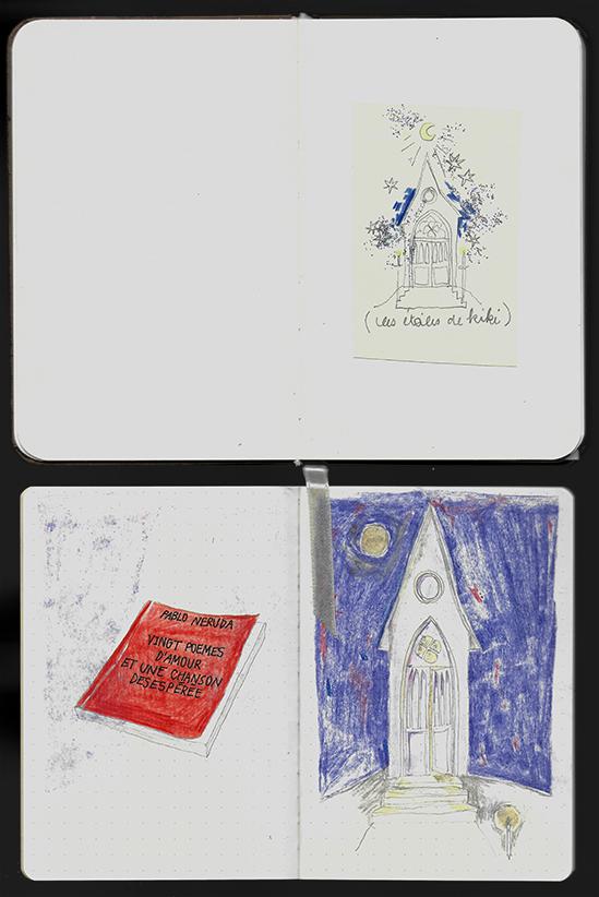deux petites chapelles et un livre rouge