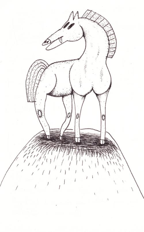 Un cheval au sommet
